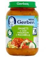 GERBER Spaghetti w sosie pomidorowym z mozzarellą po 8 miesiącu - 190 g - Apteka internetowa Melissa