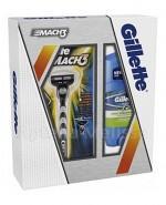GILLETTE MACH 3 Maszynka do golenia + Power rush dezodorant w sztyfcie - 48 ml  - Apteka internetowa Melissa