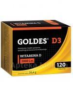 GOLDES D3  WITAMINA D3 2000 j.m - 120 tabl. - Apteka internetowa Melissa