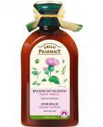 GREEN PHARMACY Balsam do włosów przeciw wypadaniu z olejkiem łopianowym - 300 ml - Apteka internetowa Melissa