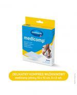 Hartmann Medicomp Kompresy z włókniny 10 cm x 10 cm - 10 szt. - cena, wskazania, właściwości