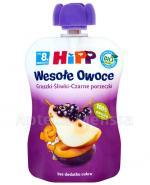 HiPP BIO Wesołe Owoce Gruszki-Śliwki-Czarne porzeczki po 8 miesiącu - 90 g Data ważności: 2018.01.31 - Apteka internetowa Melissa