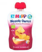 HiPP BIO Wesołe Owoce Jabłka-Ananasy-Brzoskwinie po 8  miesiącu - 90 g - Apteka internetowa Melissa