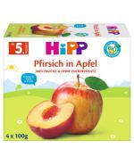 HIPP Owocowa Chwila Jabłka-Brzoskwinie po 4 miesiącu - 4 x 100 g - Apteka internetowa Melissa