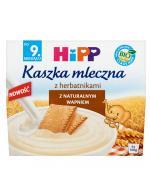 HIPP Kaszka mleczna z herbatnikami po 9 miesiącu - 4 x 100 g