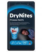 HUGGIES DRYNITES Pieluchomajtki dla chłopca 4-7 lat  17-30 kg - 10 szt. - Apteka internetowa Melissa