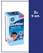HUGGIES DRYNITES Pieluchomajtki dla chłopca 8-15 lat 27-57 kg - 2 x 9 szt.