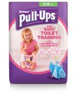 HUGGIES PULL-UPS Pieluchomajtki dla dziewczynki rozmiar M 10-18 kg - 14 szt.