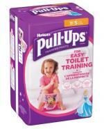 HUGGIES PULL-UPS Pieluchomajtki dla dziewczynki rozmiar S 8-15 kg - 16 szt.