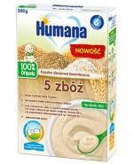 HUMANA 100% ORGANIC Kaszka bezmleczna wielozbożowa 5 zbóż po 6 m-cu - 200 g - Apteka internetowa Melissa