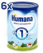 HUMANA 1 Mleko początkowe - 6 x 800 g - Apteka internetowa Melissa