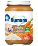 HUMANA 100% ORGANIC Obiadek warzywa z ryżem i indykiem po 6 miesiącach - 190 g Data ważności: 2018.07.22 - Apteka internetowa Melissa