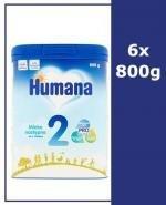 HUMANA 2 Mleko modyfikowane w proszku następne dla niemowląt - 6x800 g - Apteka internetowa Melissa