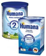 HUMANA 2 Mleko modyfikowane w proszku następne dla niemowląt - 800 g + HUMANA Na Dobranoc- 600 g - Apteka internetowa Melissa
