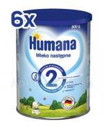 HUMANA 2 Mleko następne po 6 miesiącu - 6 x 800 g - Apteka internetowa Melissa