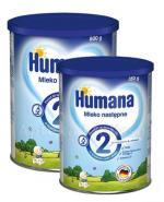 HUMANA 2 Mleko następne po 6 miesiącu - 800 g + HUMANA 2 - 350 g W ZESTAWIE! - Apteka internetowa Melissa