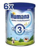 HUMANA 3 bananowo - waniliowa Mleko modyfikowane po 12 miesiącu - 6 x 800 g - Apteka internetowa Melissa