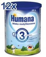 HUMANA 3 Mleko modyfikowane po 12 miesiącu - 12 x 350 g - Apteka internetowa Melissa