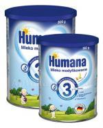 HUMANA 3 Mleko modyfikowane po 12 miesiącu - 800 g + HUMANA 3 bananowo - waniliowa - 350 g W ZESTAWIE! - Apteka internetowa Melissa