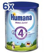 HUMANA 4 JUNIOR Mleko modyfikowane po 24 miesiącu - 6 x 800 g - Apteka internetowa Melissa