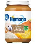 HUMANA 100% ORGANIC Obiadek dynia z ryżem i kurczakiem - 190 g - Apteka internetowa Melissa