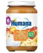 HUMANA 100% ORGANIC Śniadanko jabłko z bananem na twarożku - 190 g - Apteka internetowa Melissa