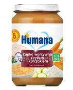 HUMANA 100% ORGANIC Zupka warzywna z ryżem i kurczakiem - 190 g - Apteka internetowa Melissa
