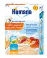 HUMANA Kaszka 5 zbóż z jogurtem, truskawkami i malinami - 200 g  - Apteka internetowa Melissa