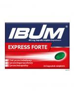 IBUM EXPRESS - 36 kaps. miękkich Lek przeciwbólowy i przeciwzapalny - cena, opinie, wskazania