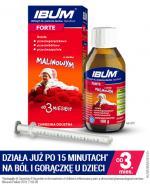 IBUM FORTE Zawiesina o smaku malinowym 200 mg / 5 ml - 100 ml - cena, opinie dawkowanie