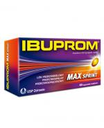 Ibuprom Max Sprint - 40 kaps. Lek przeciwbólowy - cena, opinie, dawkowanie