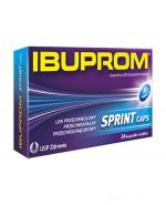 IBUPROM SPRINT CAPS - 24 kaps. - szybko leczy stan zapalny - cena, opinie, wskazania