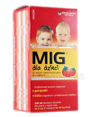 MIG Zawiesina doustna dla dzieci 20 mg - 100 ml - Apteka internetowa Melissa