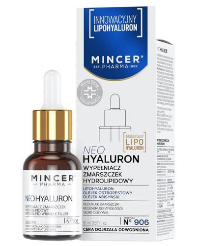 Mincer Pharma Neohyaluron N°906 Wypełniacz zmarszczek hydrolipidowy - 15 ml - cena, opinie, właściwości - Drogeria Melissa