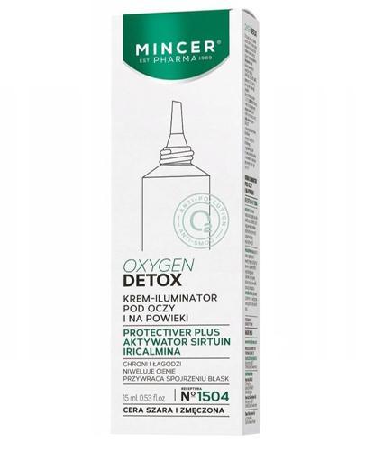 Mincer Pharma Oxygen Detox N°1504 Krem - iluminator pod oczy i na powieki - 15 ml - cena, opinie, wskazania - Drogeria Melissa