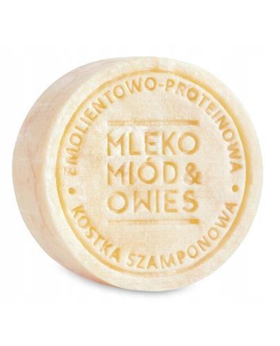 Ministerstwo Dobrego Mydła Emolientowo-Proteinowy szampon w kostce Mleko Miód Owies - 85 g - cena, opinie, właściwości - Drogeria Melissa