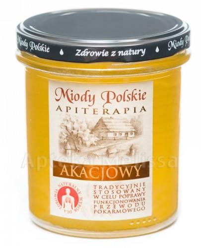 MIODY POLSKIE MIÓD AKACJOWY -  400 g + Stick - 15 g GRATIS!!!