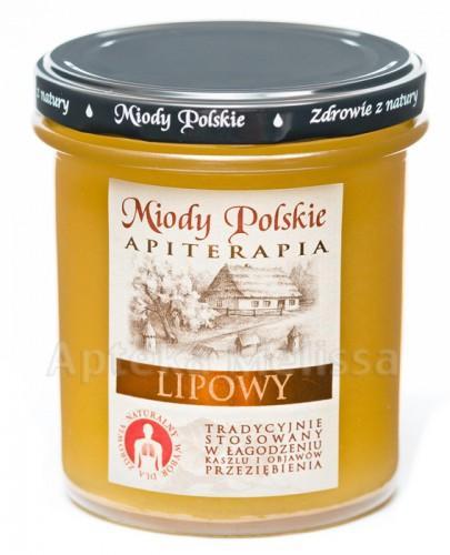 MIODY POLSKIE MIÓD LIPOWY - 400 g + Miód wielokwiatowy - 40 g + Pałeczka do miodu GRATIS!!!