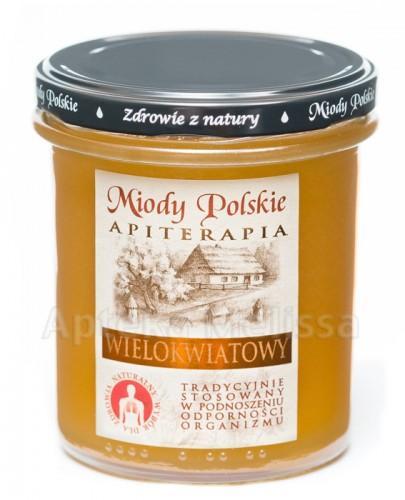 MIODY POLSKIE MIÓD WIELOKWIATOWY - 400 g + Stick - 15 g GRATIS!!!