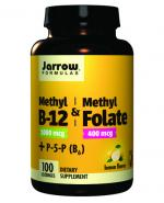 JARROW FORMULAS Methyl B-12 & Methyl folate - 100 tabl. - Apteka internetowa Melissa