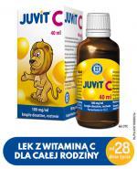 JUVIT C - 40 ml - cena, opinie, właściwości