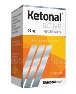 KETONAL ACTIVE - 10 kaps. Lek przeciwzapalny, przeciwbólowy oraz przeciwgorączkowy.