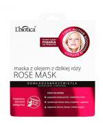 LBIOTICA ROSE MASK Maska z olejem z dzikiej róży - 23 ml - Apteka internetowa Melissa