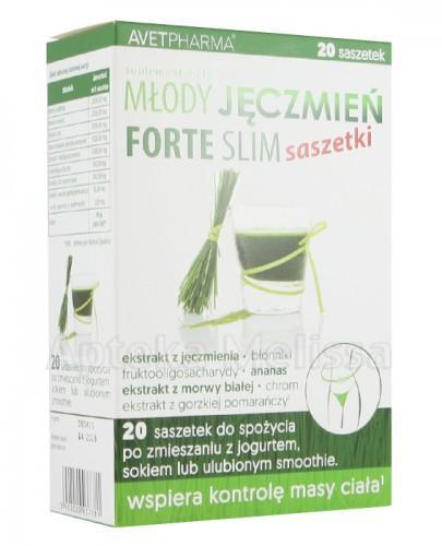 MŁODY JĘCZMIEŃ FORTE SLIM - 20 sasz. - Apteka internetowa Melissa