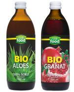 LOOK FOOD Sok Aloes + Bio Granat - 500 ml + 500 ml - Apteka internetowa Melissa