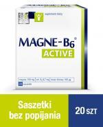 MAGNE-B6 ACTIVE 34 g - 20 szt. Magnez, kwas foliowy w saszetkach.