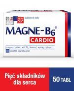 MAGNE-B6 CARDIO - 50 szt. Magnez, potas w tabletkach.