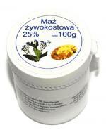MAŹ ŻYWOKOSTOWA 25% - 100 g - Przeciwbólowa i pielęgnacyjna - cena, opinie, stosowanie
