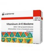 MEDANA Vitaminum A + E - 40 kaps. - Apteka internetowa Melissa