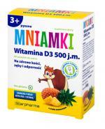 MNIAMKI Witamina D 500 j.m. o smaku ananasowym - 60 past.
